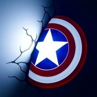 Luminária 3D Light FX Escudo do Capitão América