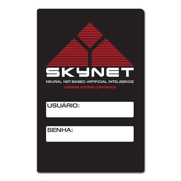 Placa para senha do Wifi Skynet - O Exterminador do Futuro