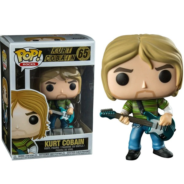 Funko Pop Kurt Cobain - Nirvana Rocks #65 com caixa