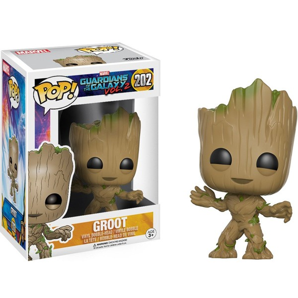 Funko Pop Groot - Guardiões da Galáxia Vol.2 Marvel #202