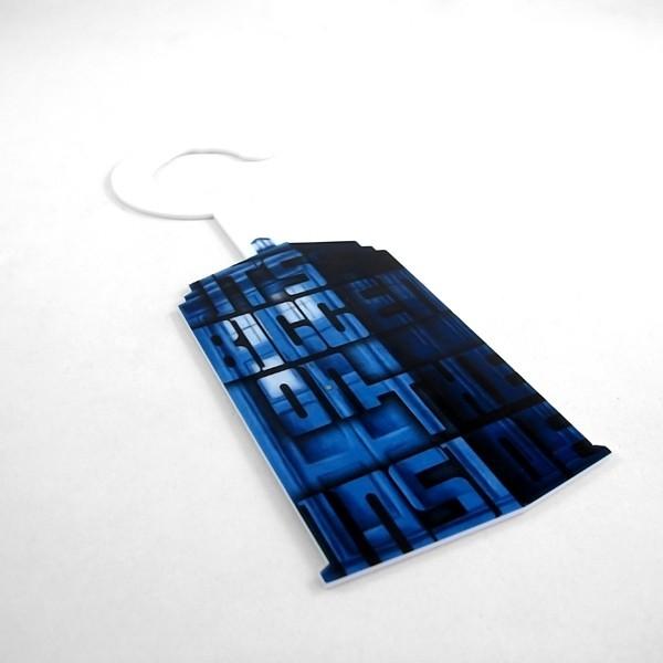 Aviso de Porta TARDIS - Doctor Who detalhe
