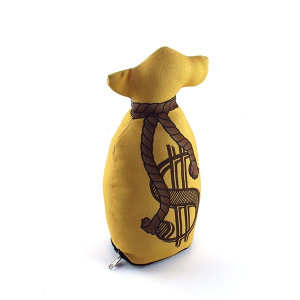 Peso de Porta Saco de Dinheiro Detalhe do zíper