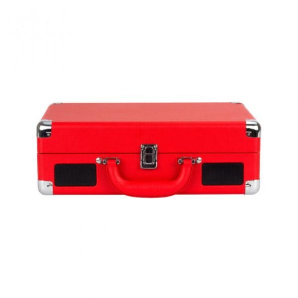 Vitrola Retrô Toca-Discos Rock 'n' Rolla Jr - Vermelha maleta