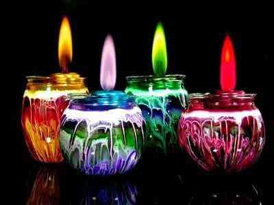 candle1 Fogo colorido