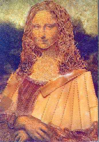 PastaMona2 Mona Lisa remake