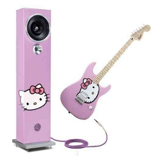 hello kitty guitar fender amp Dez produtos bizarros da Hello Kitty