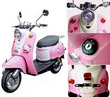 hello kitty scooter Dez produtos bizarros da Hello Kitty