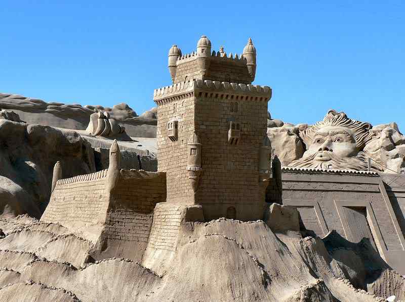 800px Torre de Belm in sand   FIESA Incríveis esculturas de areia