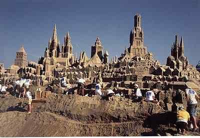 Brugge carvers Incríveis esculturas de areia