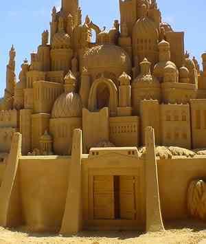 Sand sculpture Incríveis esculturas de areia