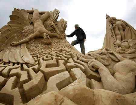 a400 s14 Incríveis esculturas de areia