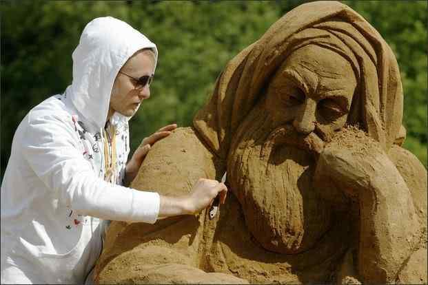 asandsculpture russian Incríveis esculturas de areia