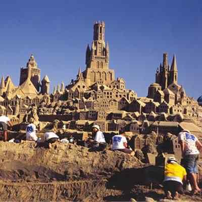 carvers Incríveis esculturas de areia