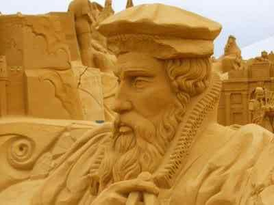 kingsandsculpture Incríveis esculturas de areia
