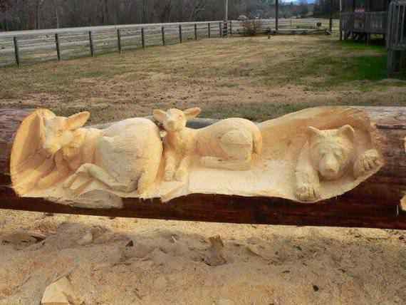 real arts of woodcarving06 O fera da motoserra