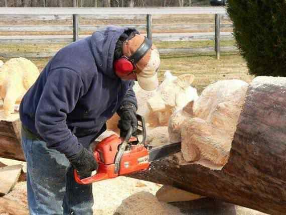 real arts of woodcarving08 O fera da motoserra