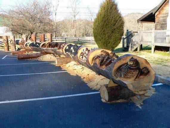 real arts of woodcarving12 O fera da motoserra