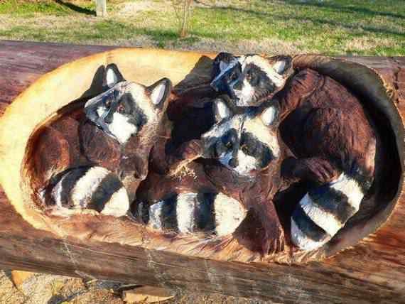 real arts of woodcarving14 O fera da motoserra