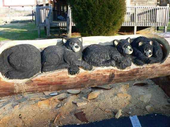 real arts of woodcarving20 O fera da motoserra