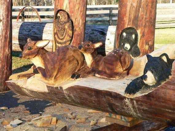 real arts of woodcarving22 O fera da motoserra