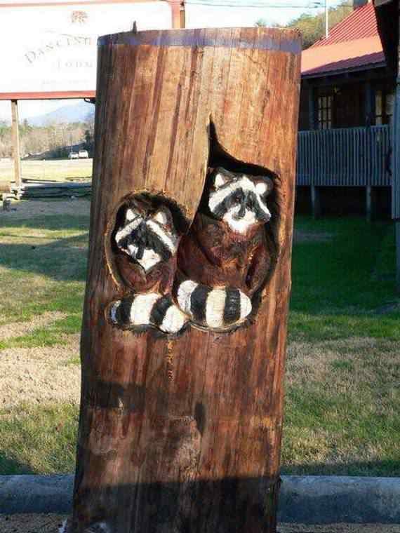 real arts of woodcarving24 O fera da motoserra