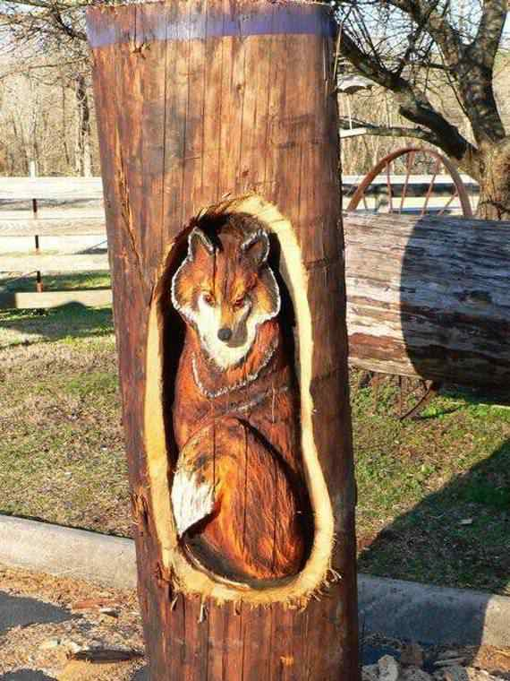 real arts of woodcarving28 O fera da motoserra