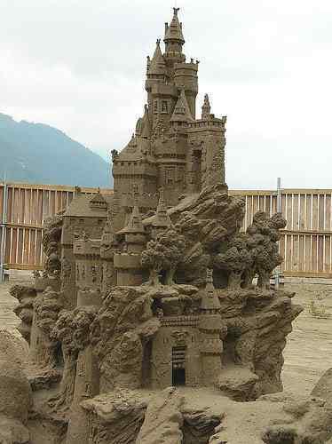 sand castle contest Incríveis esculturas de areia