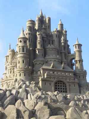 sand castle Incríveis esculturas de areia