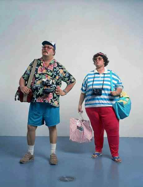 duane hanson tourists 2 Mestres do hiper realismo