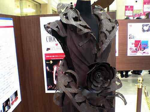 chocolate dress 10 coisas bizarras feitas de chocolate