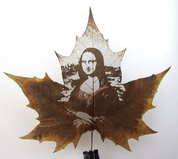 leaves carving masterpieces 01 Leaf carving   a arte de esculpir em folhas