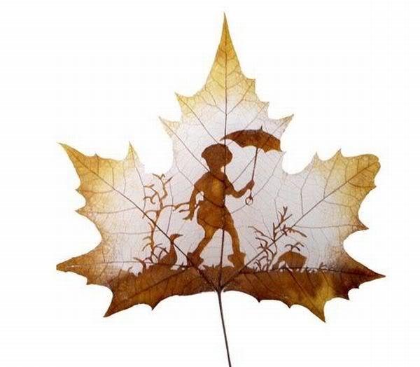 leaves carving masterpieces 04 Leaf carving   a arte de esculpir em folhas