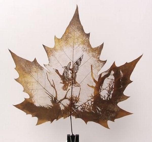 leaves carving masterpieces 05 Leaf carving   a arte de esculpir em folhas