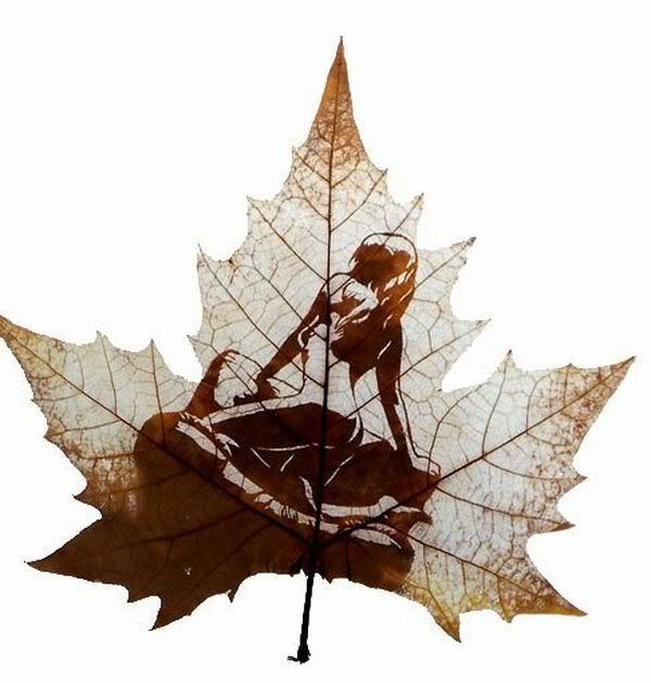 leaves carving masterpieces 07 Leaf carving   a arte de esculpir em folhas