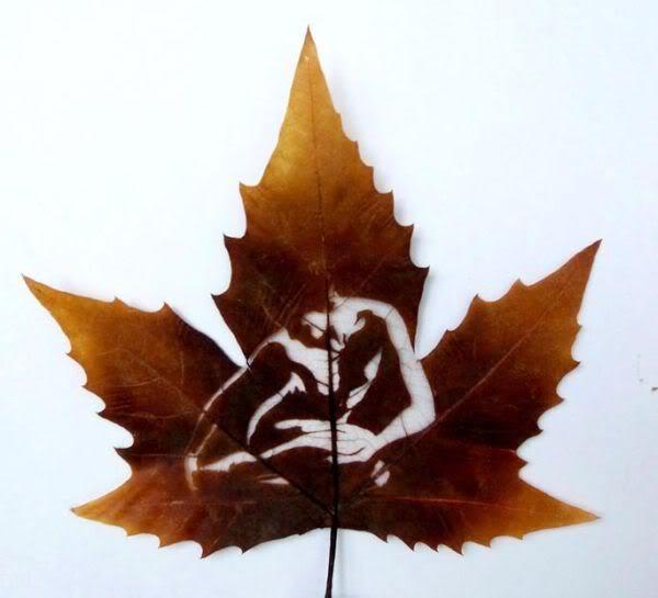 leaves carving masterpieces 08 Leaf carving   a arte de esculpir em folhas