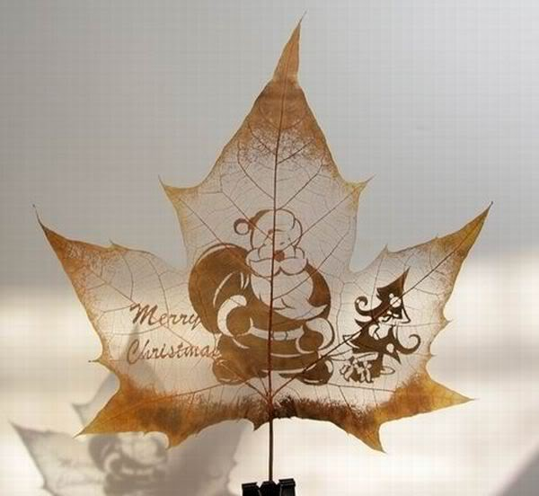 leaves carving masterpieces 09 Leaf carving   a arte de esculpir em folhas