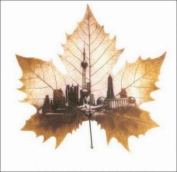 leaves carving masterpieces 10 Leaf carving   a arte de esculpir em folhas