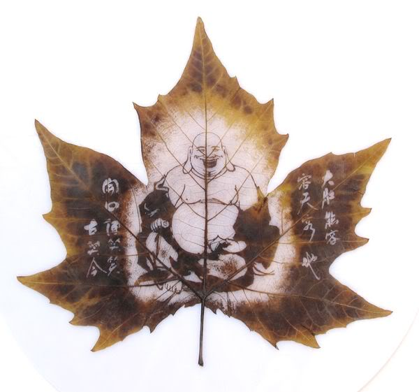 leaves carving masterpieces 11 Leaf carving   a arte de esculpir em folhas
