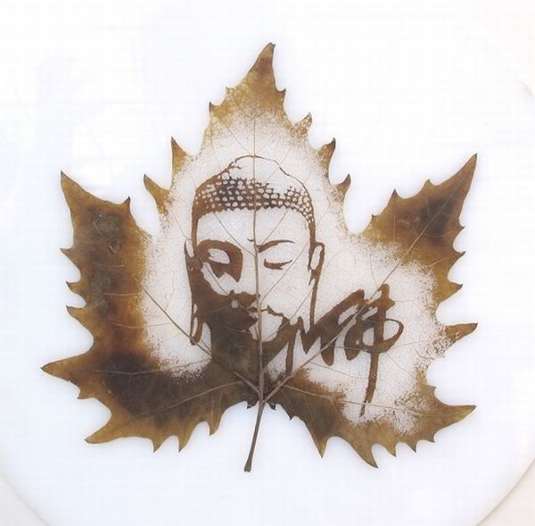 leaves carving masterpieces 13 Leaf carving   a arte de esculpir em folhas