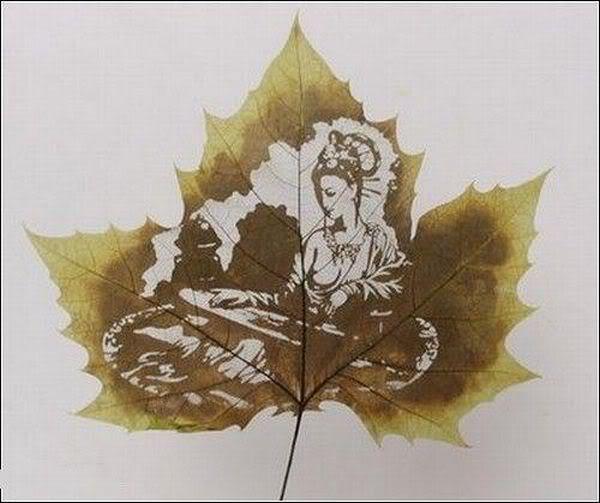leaves carving masterpieces 14 Leaf carving   a arte de esculpir em folhas