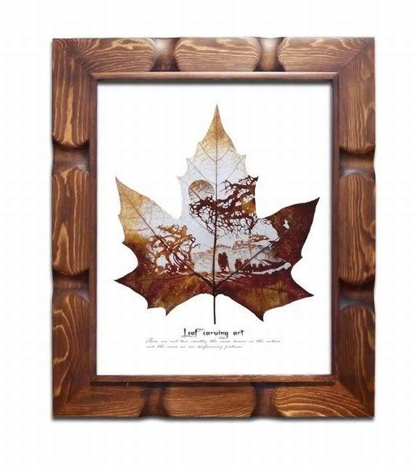 leaves carving masterpieces 15 Leaf carving   a arte de esculpir em folhas
