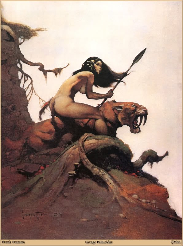 QMan FF Legacy 587 Savage Pellucida 20 grandes ilustrações do Frank Frazetta