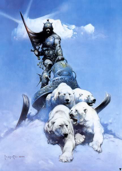 ff silver warrior 20 grandes ilustrações do Frank Frazetta