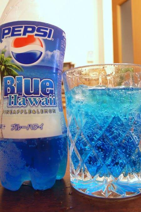 blue pepsi Estranhos sabores da Pepsi