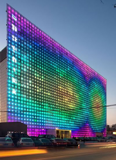 giant led wall Mundo gigante   Um apanhado de coisas gigantes da web