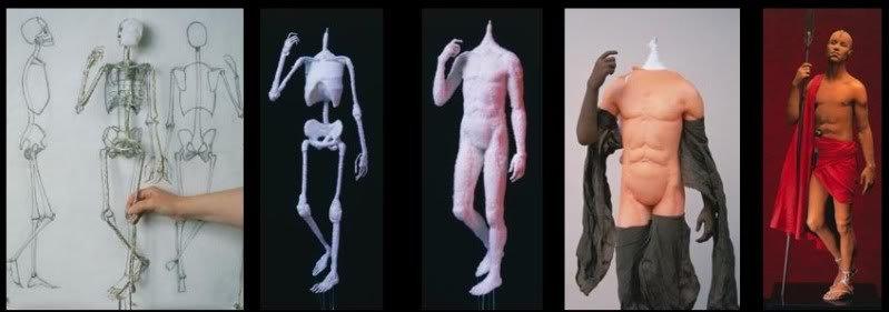 processo Esculturas realistas de Lisa Lichtenfels