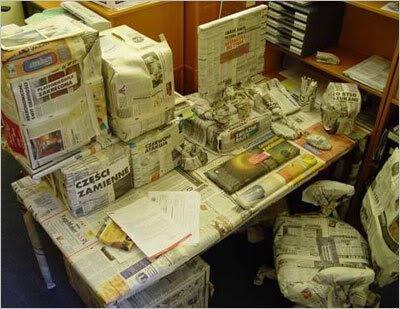 080909 office pranks Pegadinhas de escritório