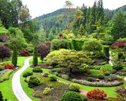 canada butchart gardens O jardim mais bonito do mundo
