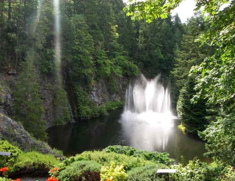 ross fountain butchart gardens 01 O jardim mais bonito do mundo