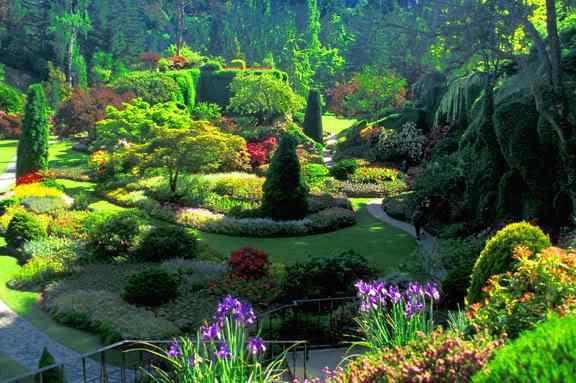 victoria butchart gardens overview O jardim mais bonito do mundo